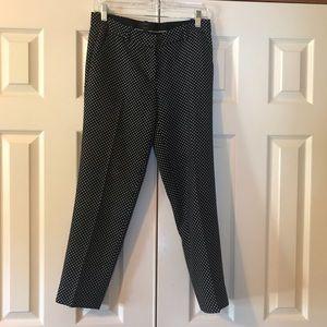 Jcrew Cafe Capri Polka Dot dress pant size 0